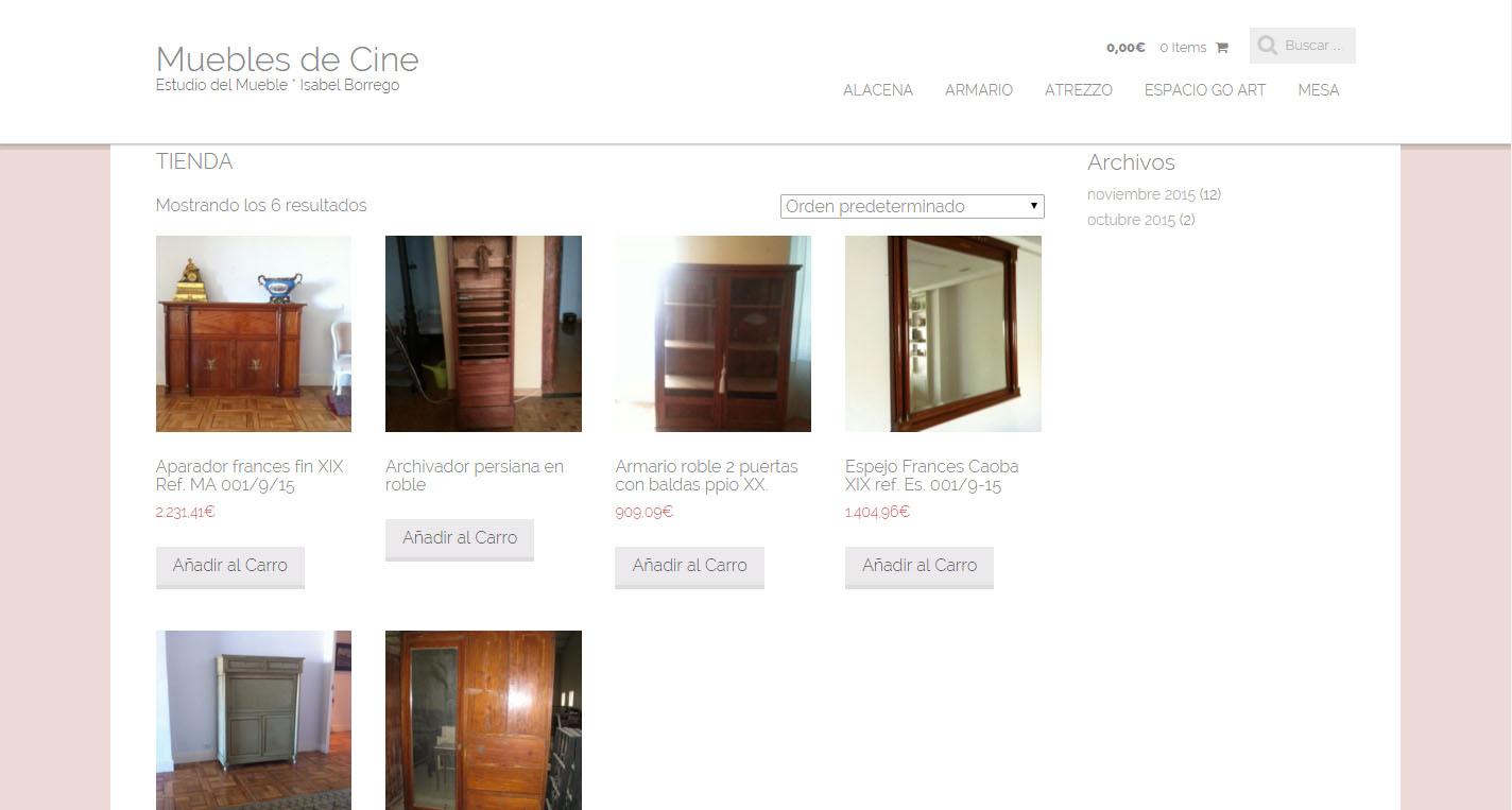 muebles de cine web