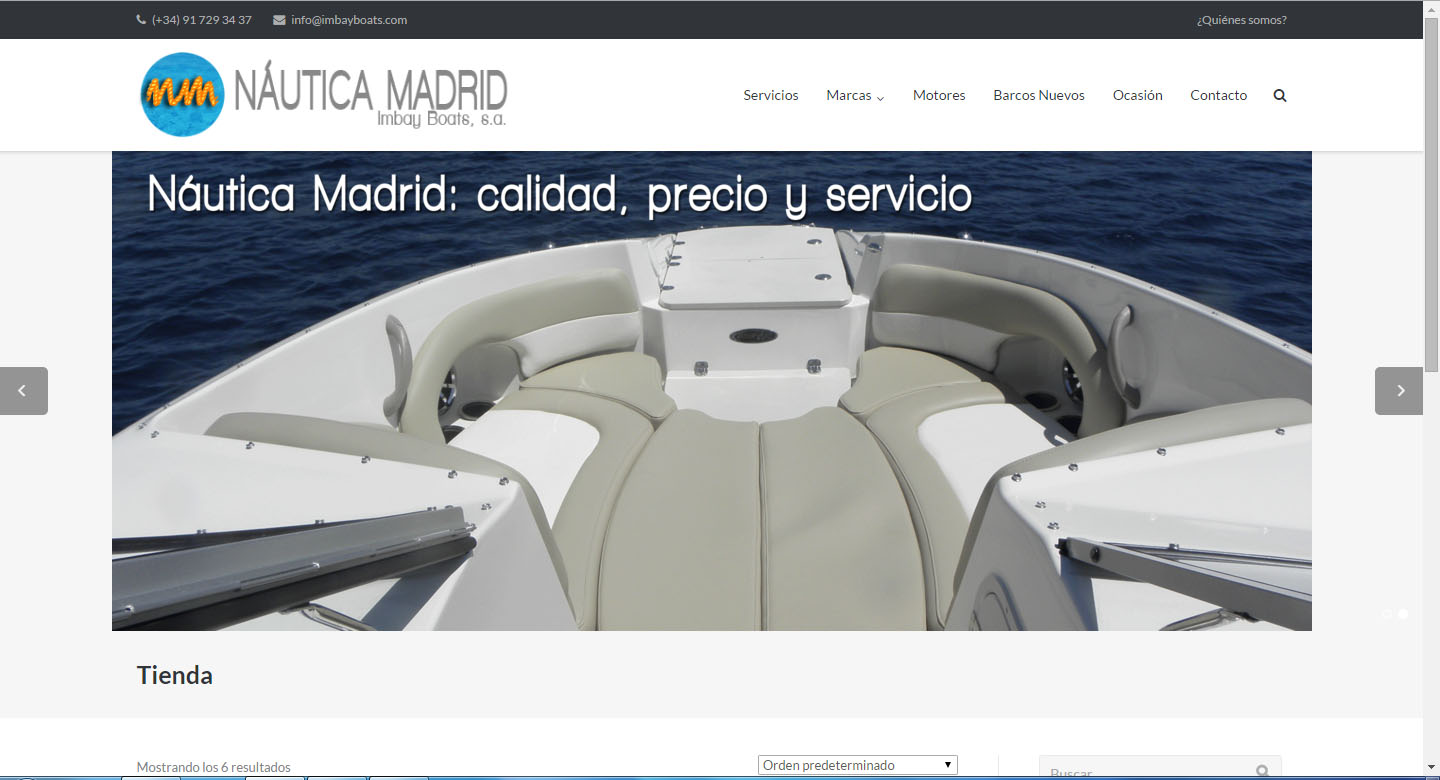 nautica madrid web