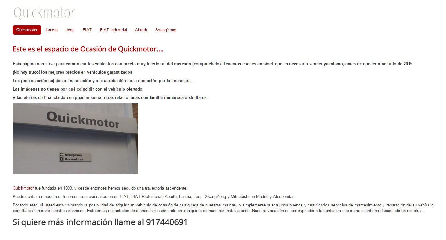 quickmotor ocasión web